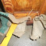Use a hive tool to plug the entrances with a piece of hessian