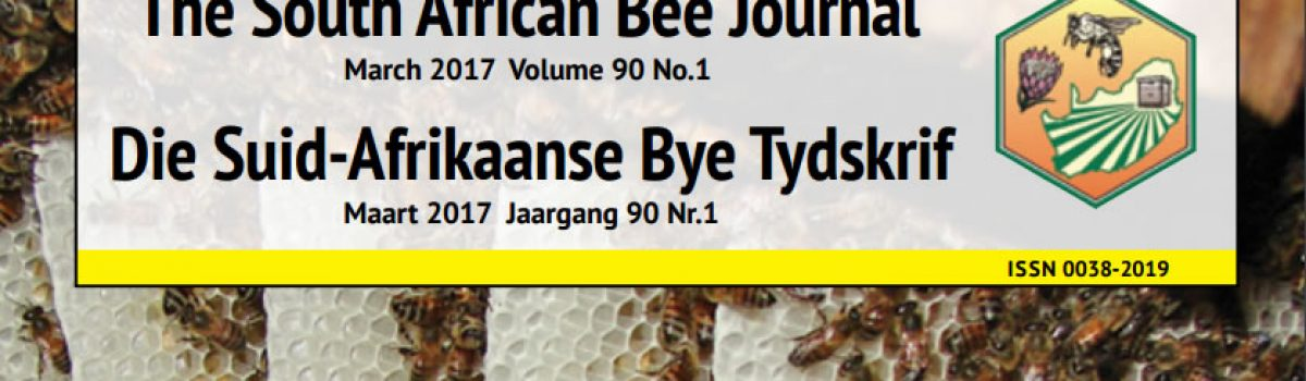 South African Bee Journal – March 2017