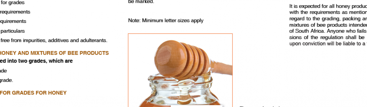 Required information on the honey labels